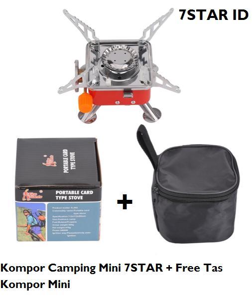 Kompor Portable Camping Mini 7STAR - Kompor Lipat Portabel untuk Camping Portable Stove 1Pcs + Free Tas Kompor Mini