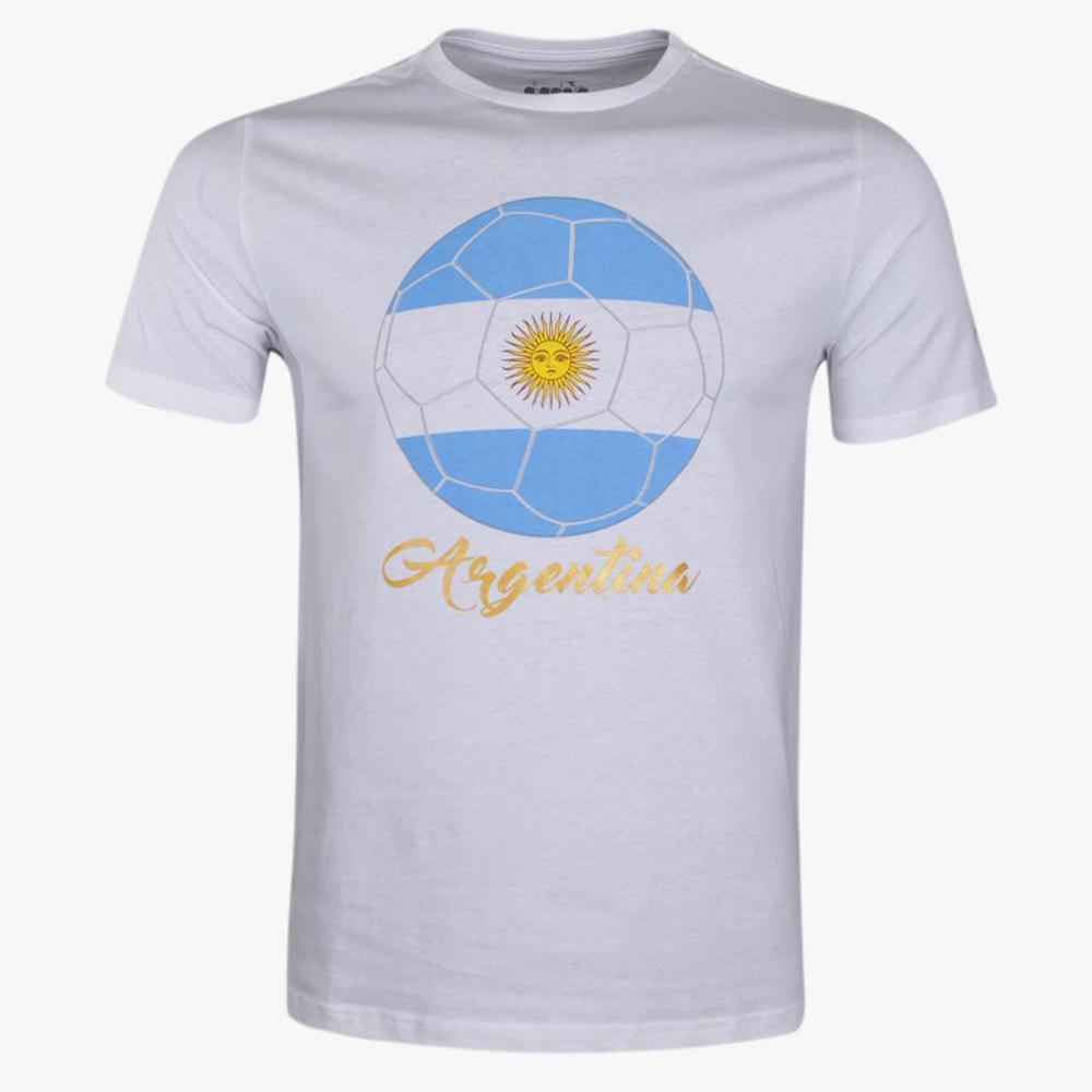 Diadora World Cup Argentina Men's T-Shirt - Putih
