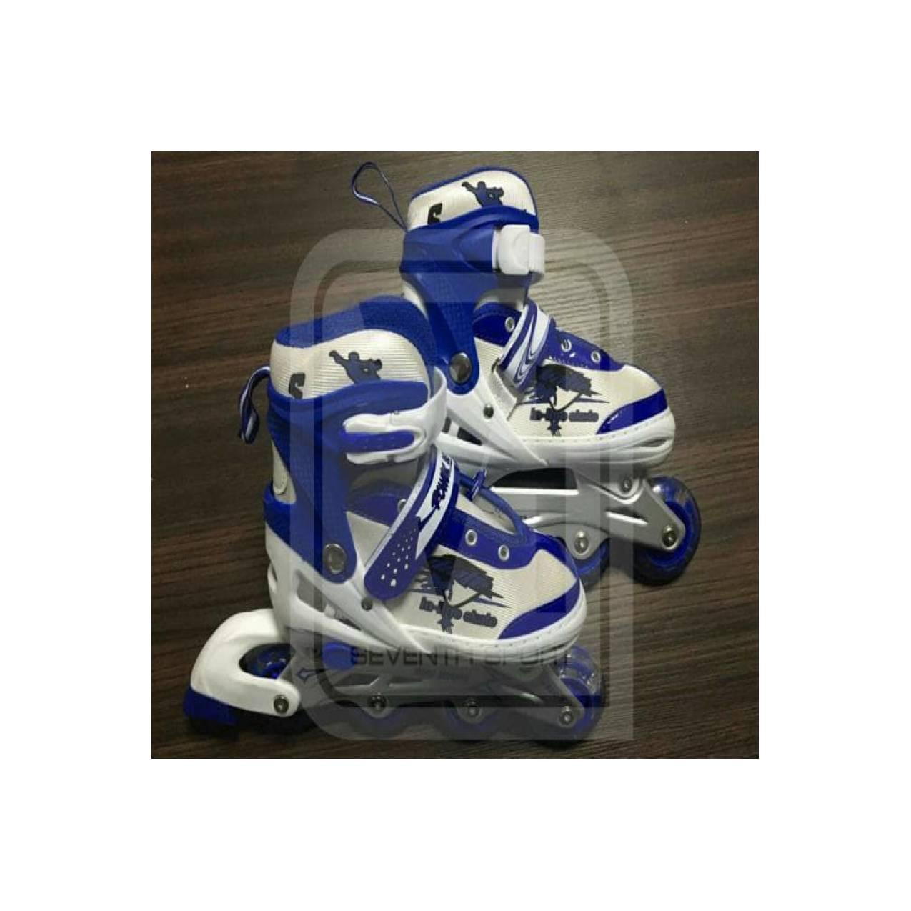 Jual Sepatu Roda  Inline Skate Jahit Bajaj Power Seventh Biru Limited 1180dc09e4