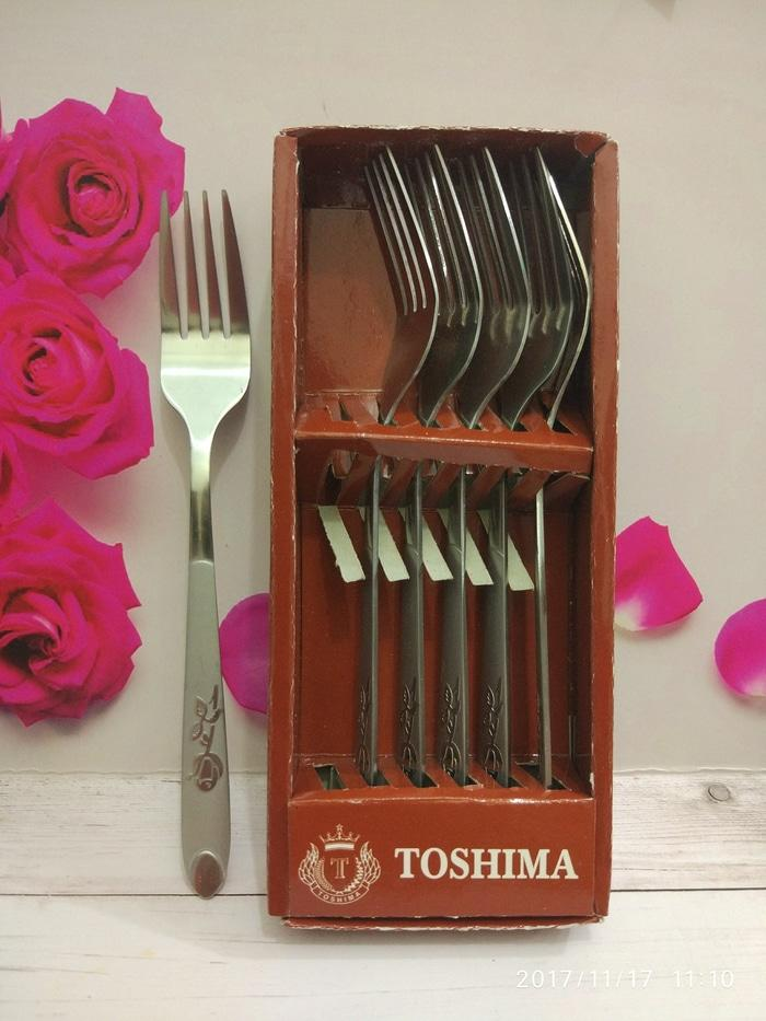 HARGA SPESIAL!!! Garpu Makan Toshiba Stainless steel Fork/ spoon isi 6 pcs - IMh6LO
