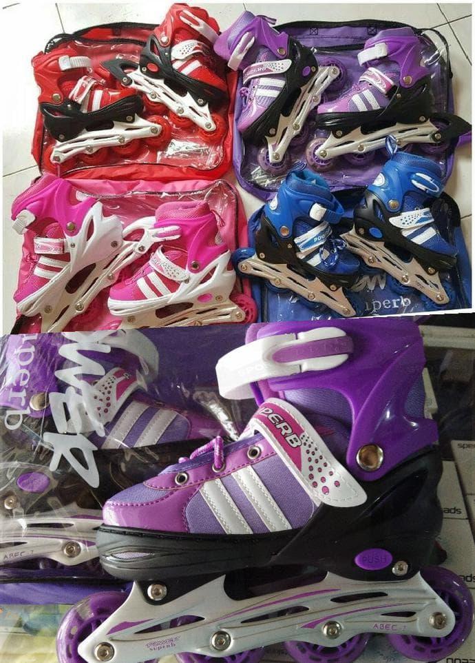 Jual Sepatu Roda/ Inline Skate Jahit Bajaj Power Seventh Merah Hot