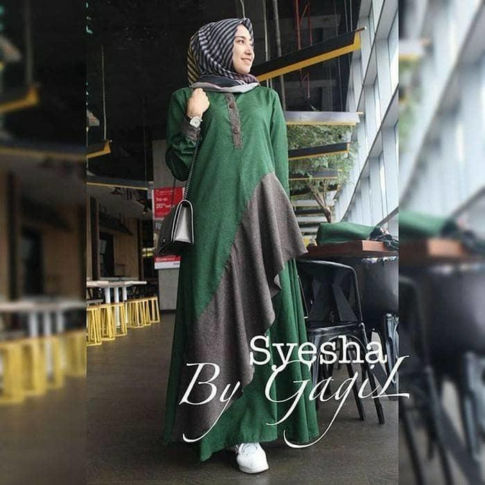 Syesha Long Dress Baju Gamis