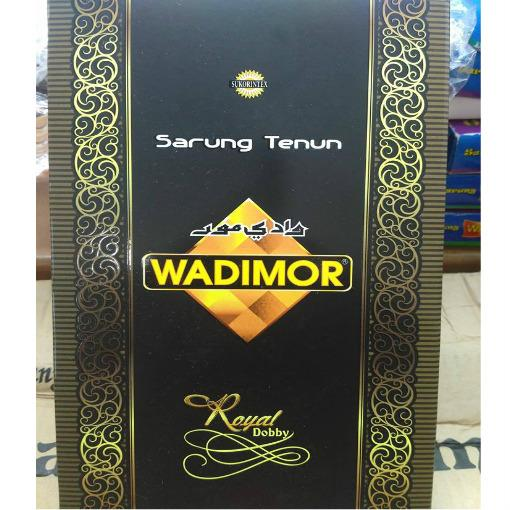 Wadimor Sarung Tenun MOTIF ROYAL  Kain Sarong Muslim Pria Dewasa Perlengkapan Ibadah Sholat Jum'at Ied Hari Raya Pengajian Corak Masa Kini Fashionable Man Fashion -