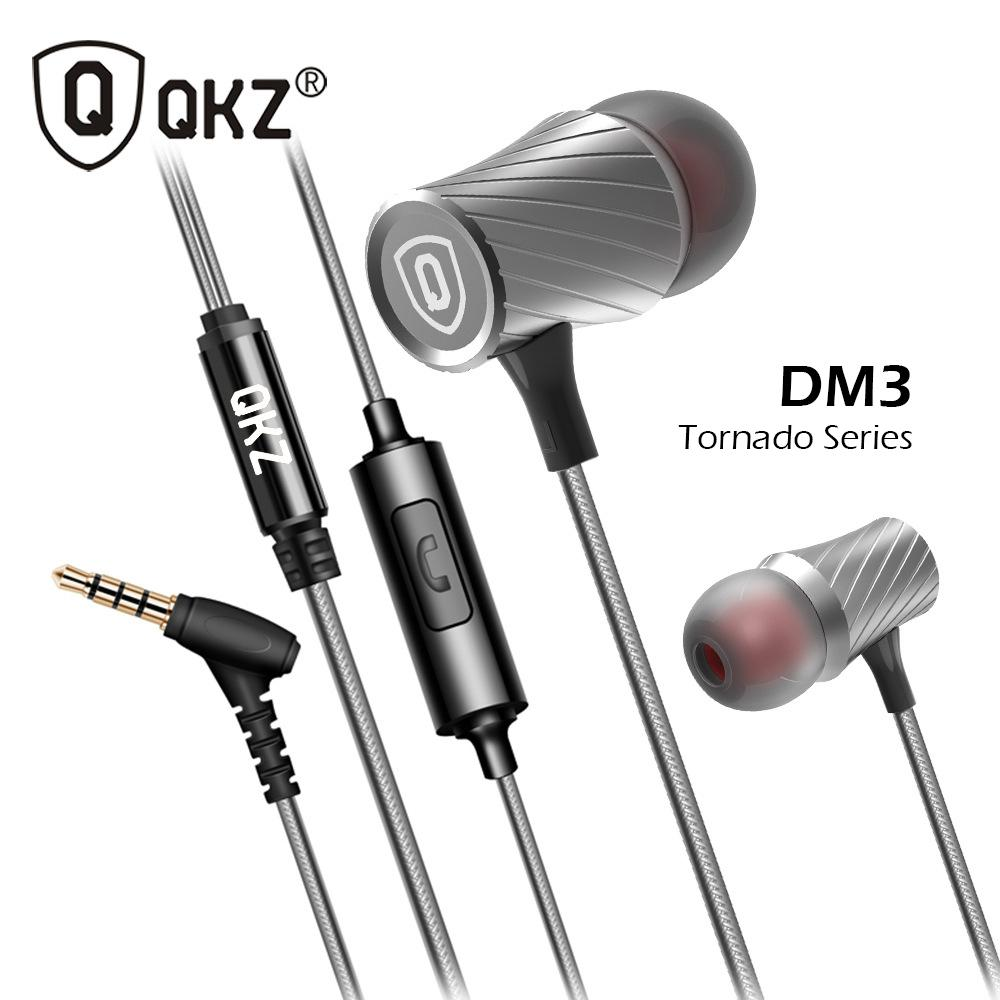 QKZ - DM3 Quality Knowledge Zenith Full Metal Tornado Stereo MEGA BASS In Ear Earphone with