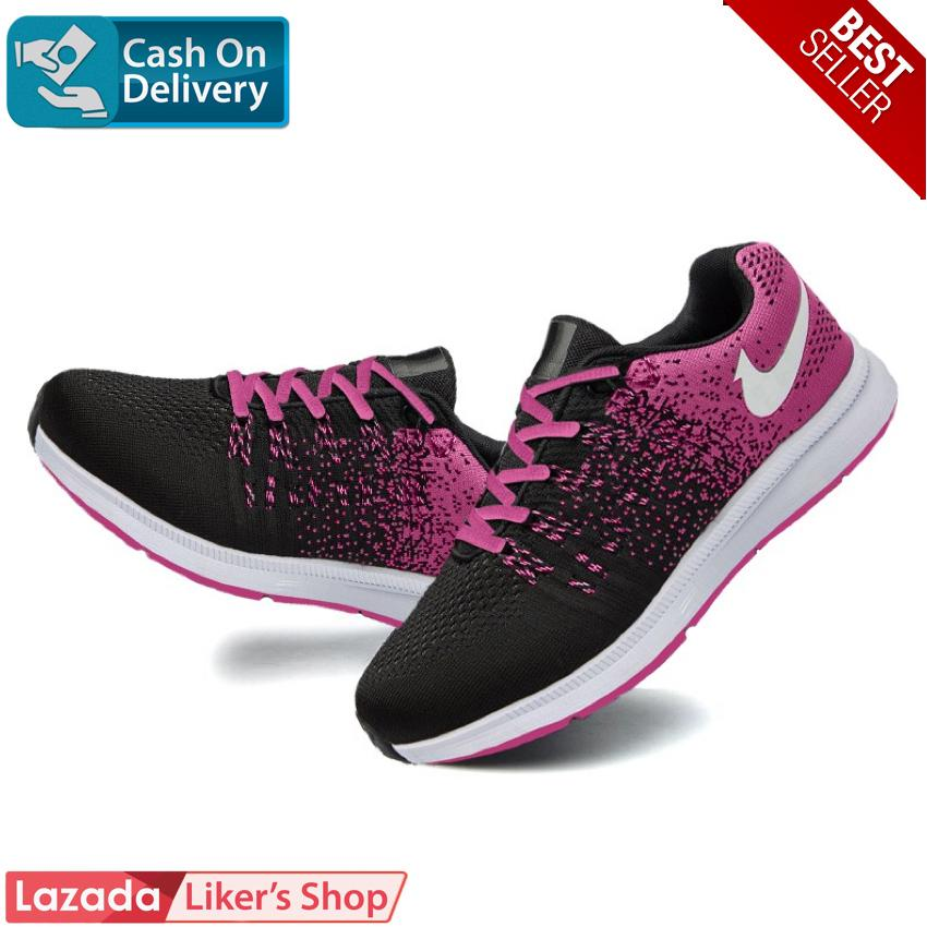Likers Sepatu Sneaker Import Wanita Selly - Black Pink ✅ c9cfb89169
