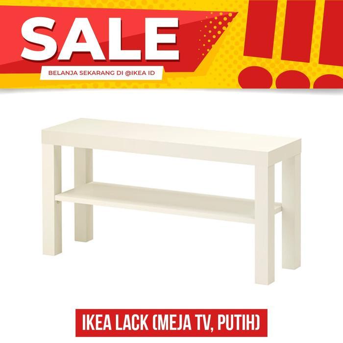 IKEA LACK Meja TV, Putih, Mudah dirakit