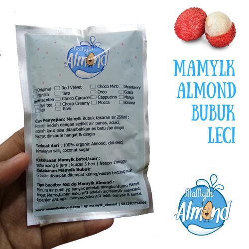 susu almond pelancar ASI Mamylk Almond bubuk leci