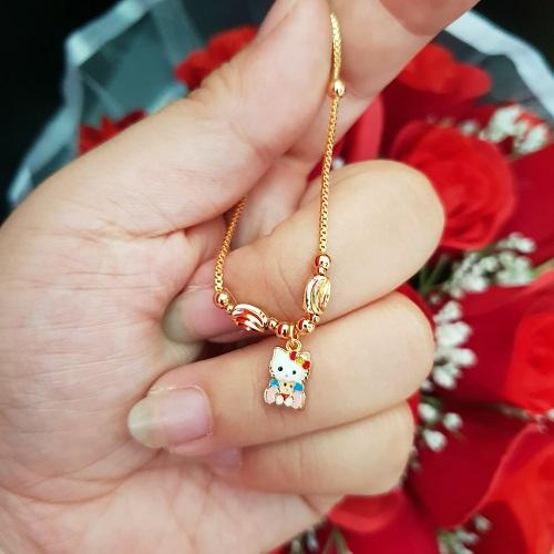 kalung anak kitty bears xuping cantik gold