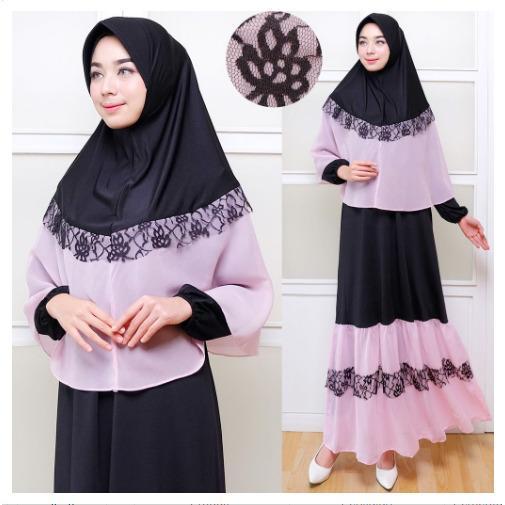 IndonesiaHeritage Syari Pesta Ori Premium dg Bergo Brukat  (Real Pic) - Gamis Syari Pesta Mewah Elegan - Kaftan Premium - Gaun Muslim - Maxy Dress - Busui Friendly - Kebaya Modern