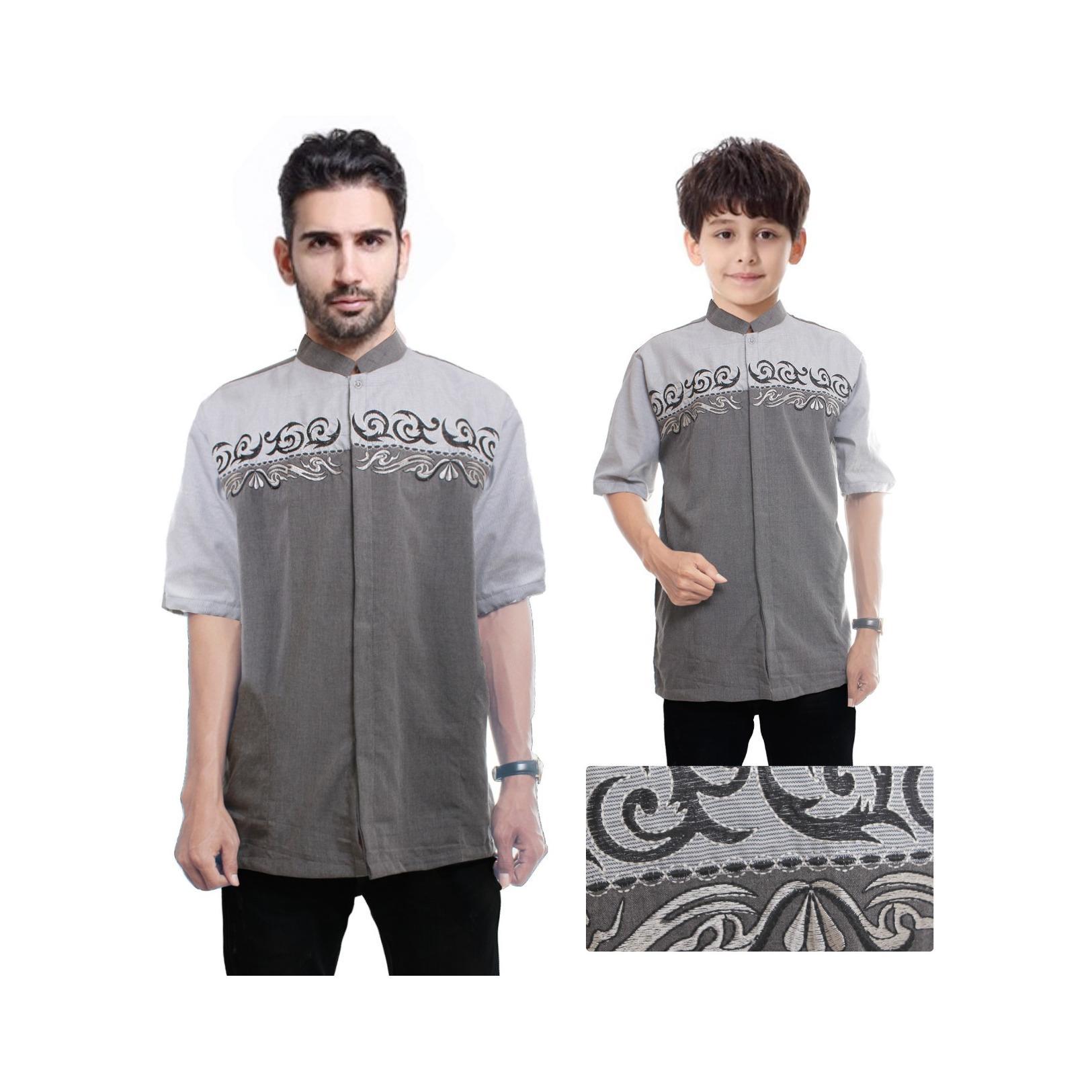 168 Collection Baju Koko Eldif Kemeja Muslim Lengan Pendek Ayah dan Anak