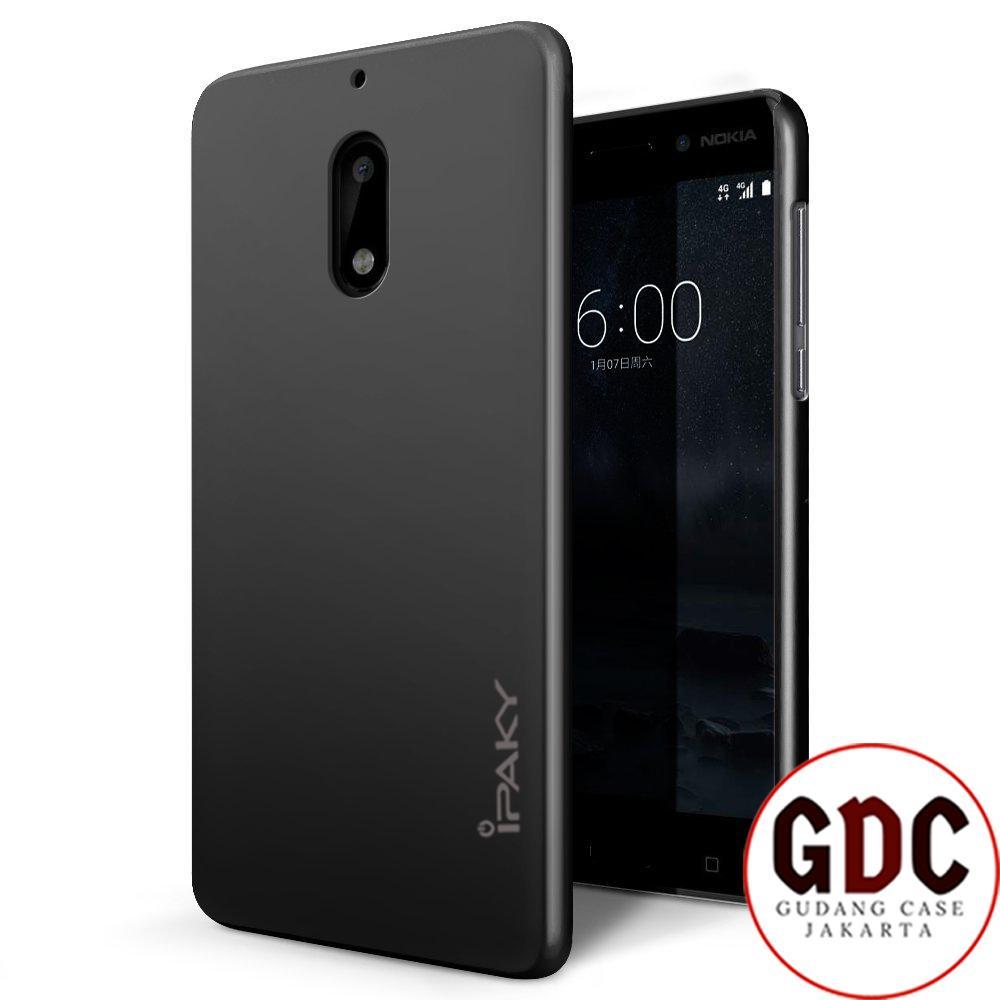 GDC iPaky Ultra Slim Black Matte Back Case for Nokia 6  - Black