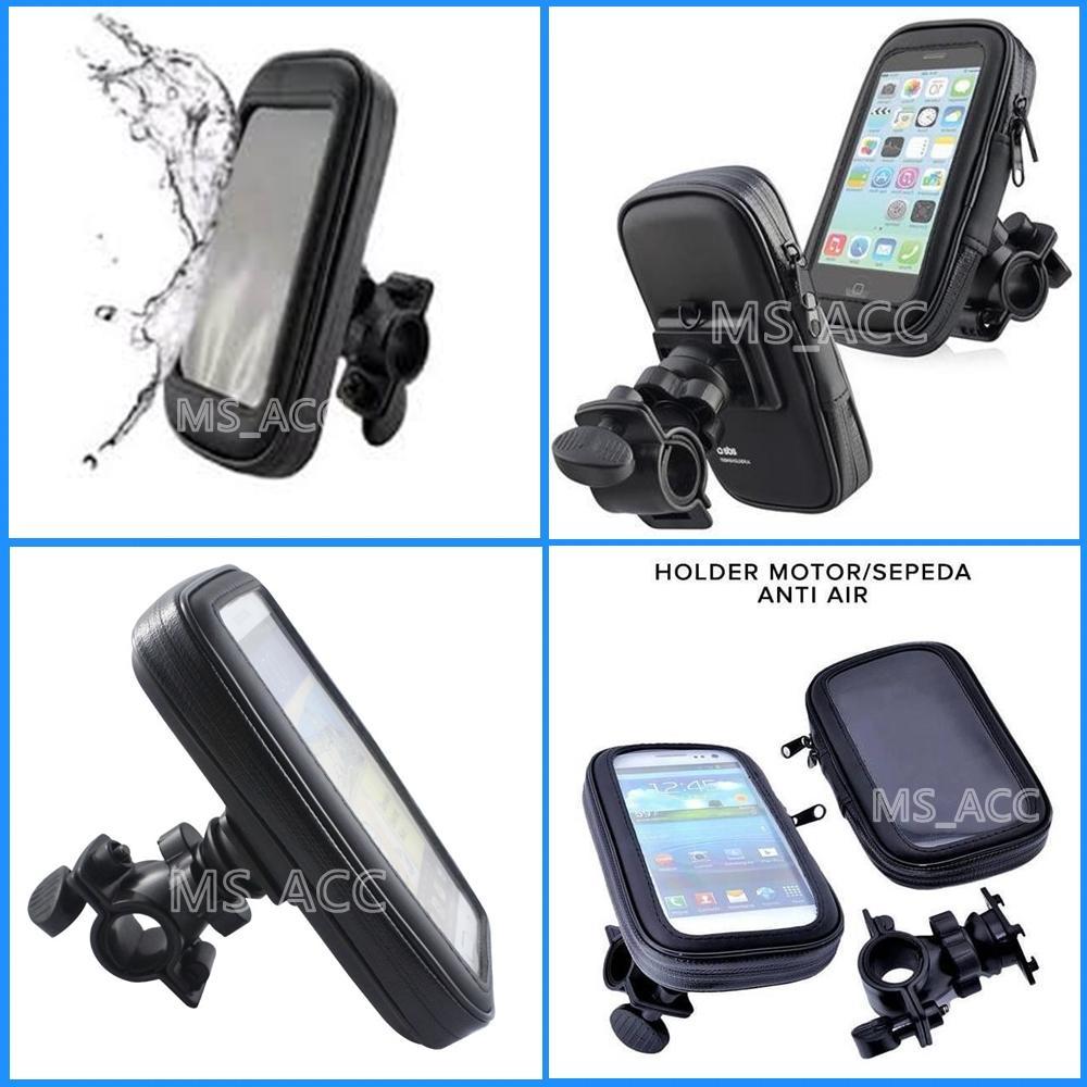 Universal Holder Motor Waterproof / Holder Motor Anti Air Muat Smartphone Ukuran 5.5inch [ ms_acc ]