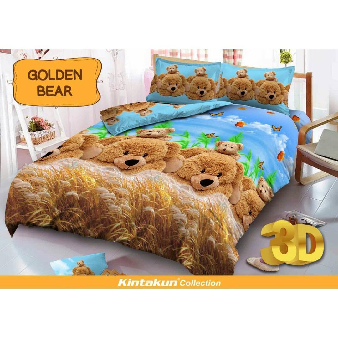 Sprei Bed Cover Kintakun Terbaru Rumbai Dluxe 180 X 200 B2 King Louis Vuitton Deluxe No2 160 Queen Size Motif Golden Bear