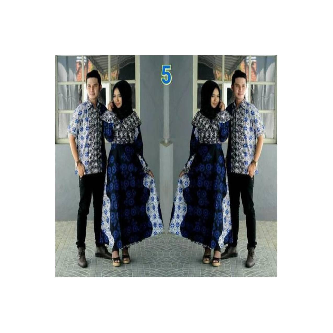 Baju Batik Couple Sarimbit Kebaya Gamis Keluarga Modern Seragam Pesta