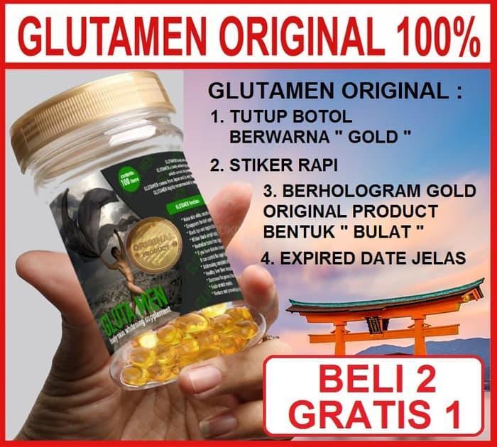 Gluta Men Suplemen Pemutih Untuk Pria Glutamen   Ivory Caps Berry Gloss Vicy Panacea
