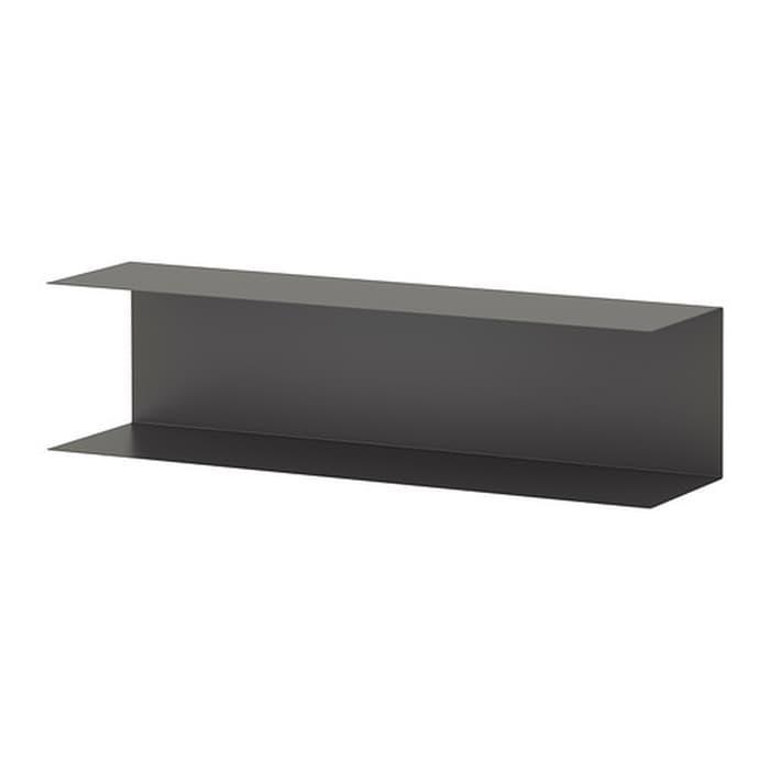 IKEA BOTKYRKA Rak dinding dapur 80x20 cm, abu-abu