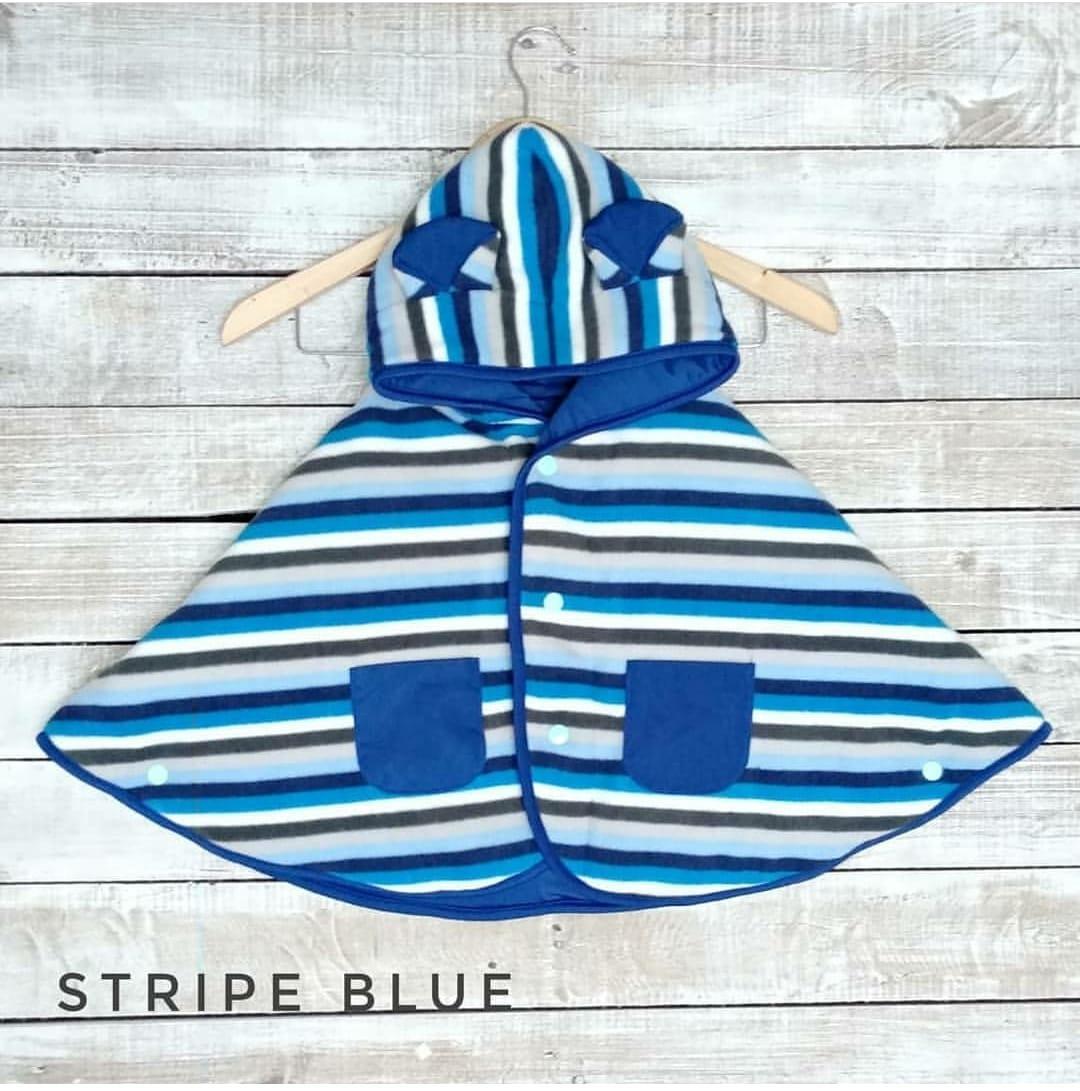 Cuddle Me Baby Cape Jaket Bayi / Selimut Bayi - Stripe Blue