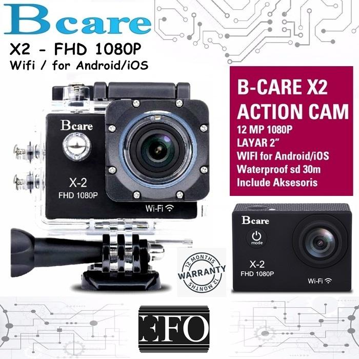 Bcare BCam X-2 Action Camera WiFi 12 MP 1080 P - Layar 2 Inch BCare BCam X2 Waterproof GARANSI 12 Bulan