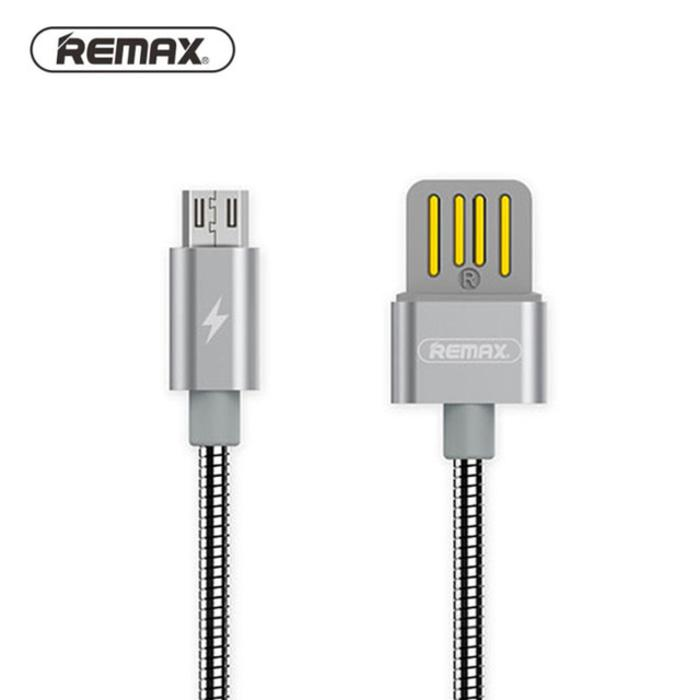 PROMO Kabel Data Remax Silver Serpent Fast Charger Micro USB Android RC-080m