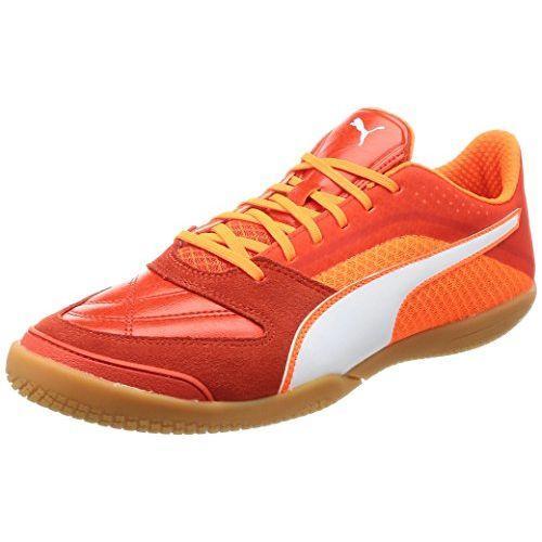 Puma Sepatu Futsal Invicto II 104271 Tomat Ceri/Puma Putih/Shocking Oranye 25 Cm