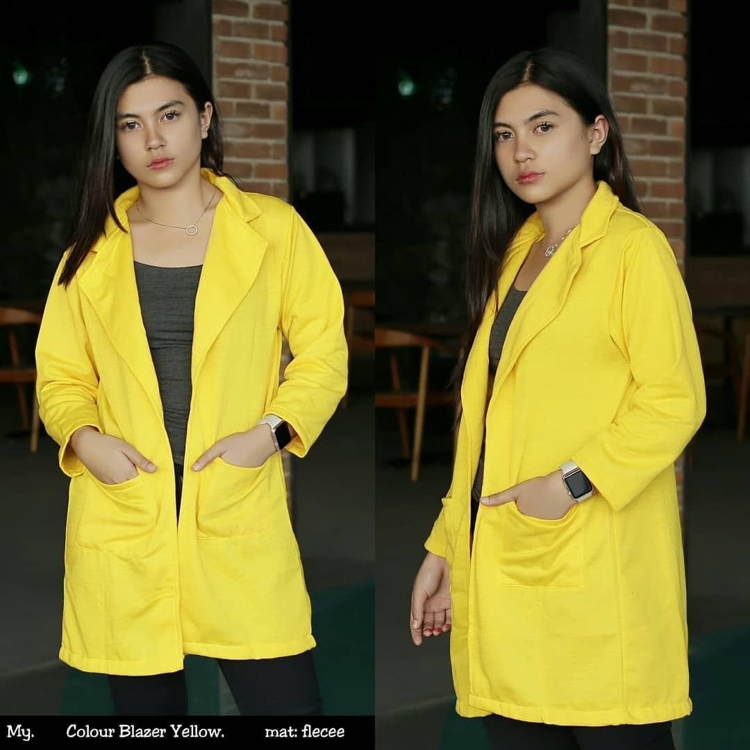 Buy Sell Cheapest Colour Blazer Cape Best Quality Product Deals Celana Pendek Distro Pria Polyester Multi Cln 736 Yellow