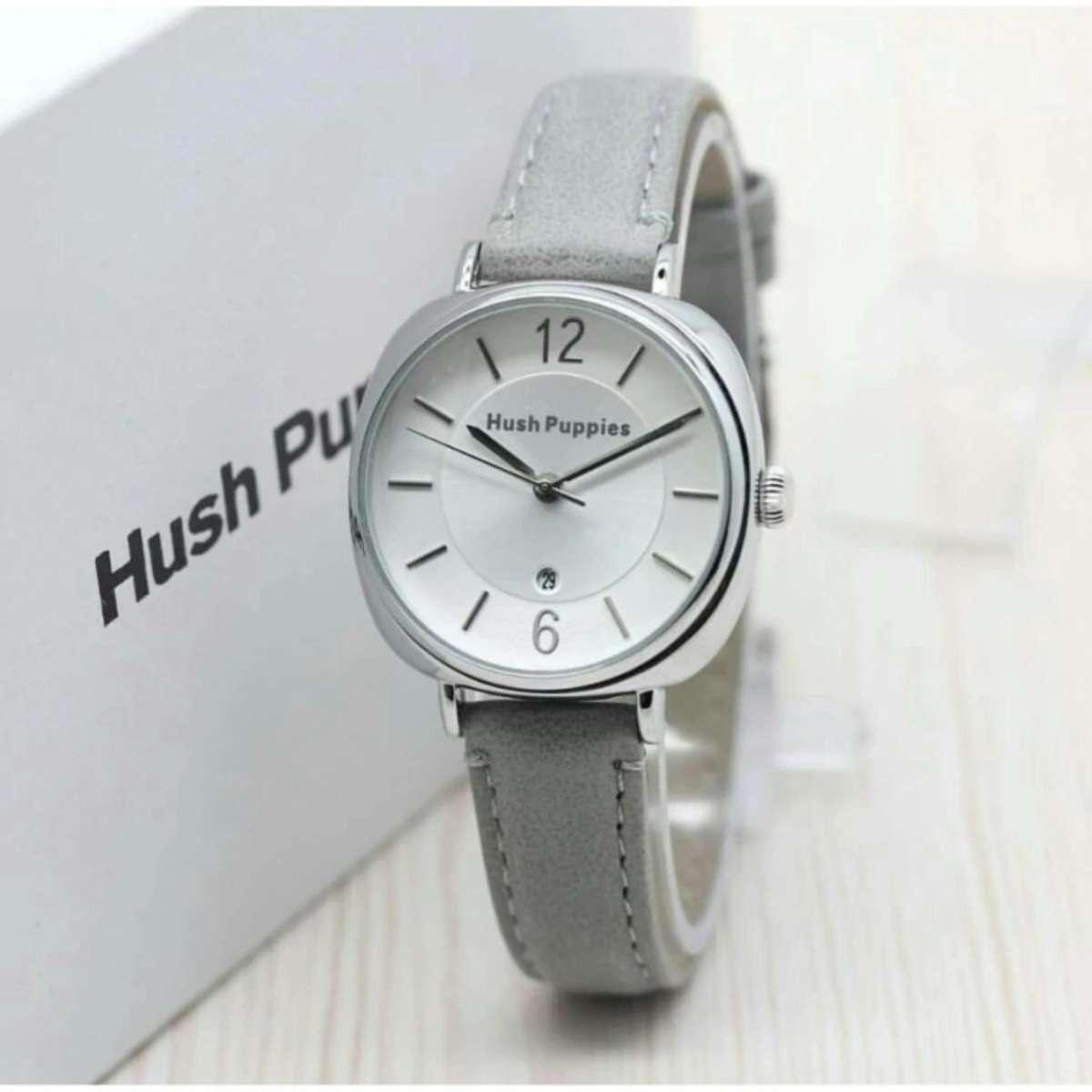Jam tangan wanita hush-pupies Ellegant silver style - Leather Strap 83a035b3d5
