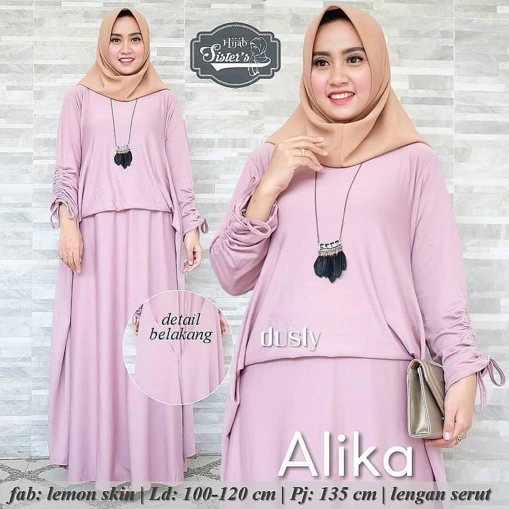 JAKARTA GROSIR -  alika dress wd Fashion Dress / Atasan / Tunik / size M, L dan XL