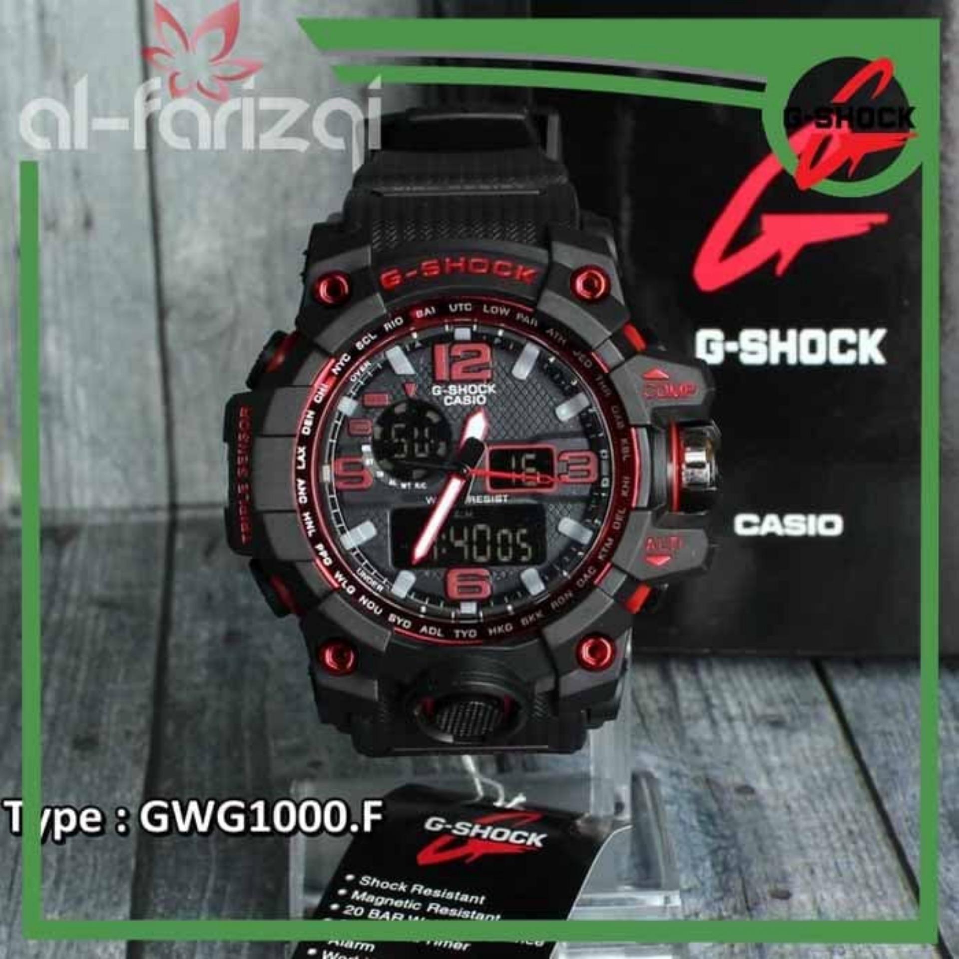 Jam Tangan Pria Dual Time Casio Gshock Gwg1000 Black Hitam Skmei Eiger