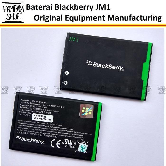 Baterai Blackberry JM1 9900 9380 9850 Bellagio Belagio Orlando Volt Original Batre Batrai Battery Dual Handphone HP Ori BB