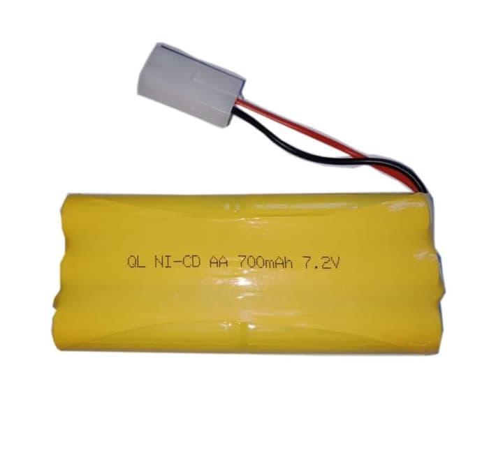 Battery / Baterai / Batre Ni-Cd AA 700mAh 7.2V Soket Putih RC Car