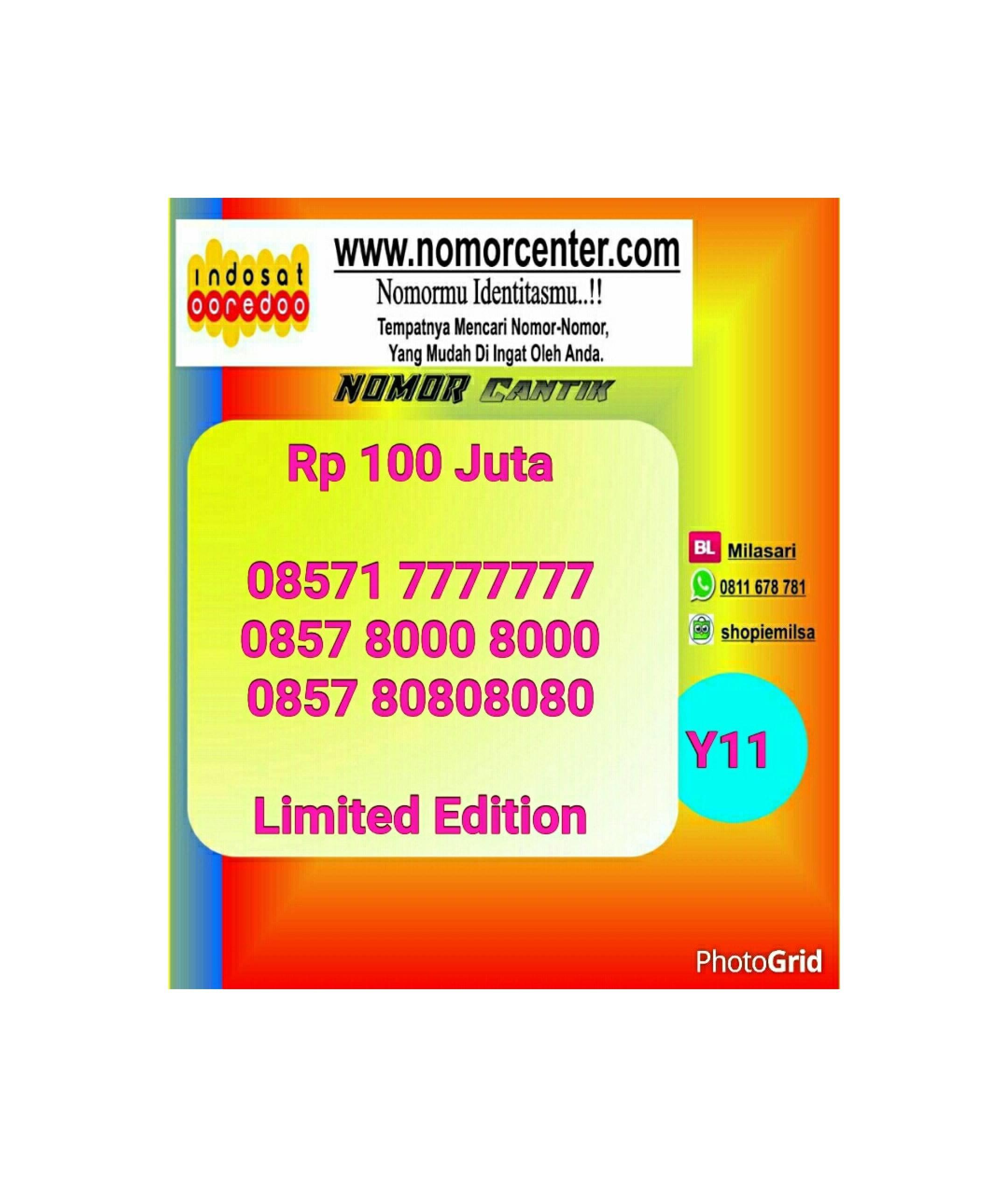 Nomor Indosat Im3 Seri Septa 7777777 - 08571 7777777 Simple #Y11 570