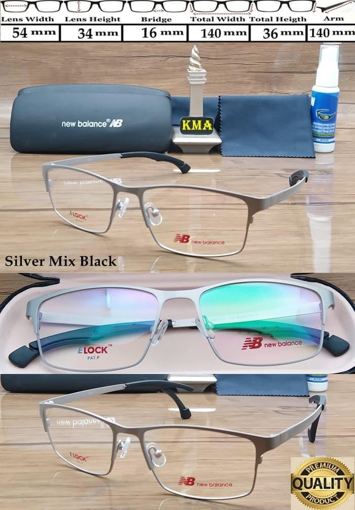 Hot Item!! Frame Kacamata Minus New Balance Elock Metal Pat.P Frame Sport Premium - ready stock