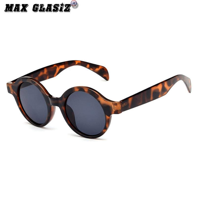 GD Kacamata Hitam Retro Kecil Kacamata Hitam Bulat