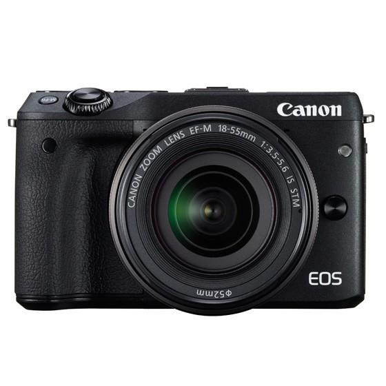 Canon Digital Camera EOS M3 Black with EF-M15-45 IS STM & EF-M55-200 IS STM
