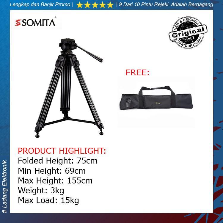 Somita Tripod Video Proffesional ST-650 For Sony MC2500A / PD177 / JVC / Panasonic Handycam Termurah - Original