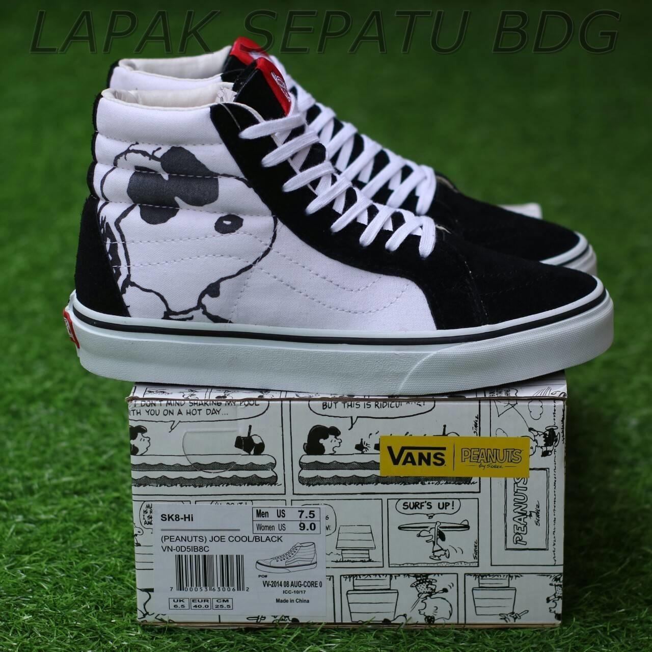 sepatu sneakers VANS SK8 HIGH X PEANUTS JOE COOL PREMIUM BNIB sepatu olahraga