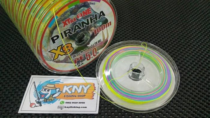 HOT SPESIAL!!! Senar Benang Pancing PE Xtraone Piranha X8 PE5 warna warni - nJed1y