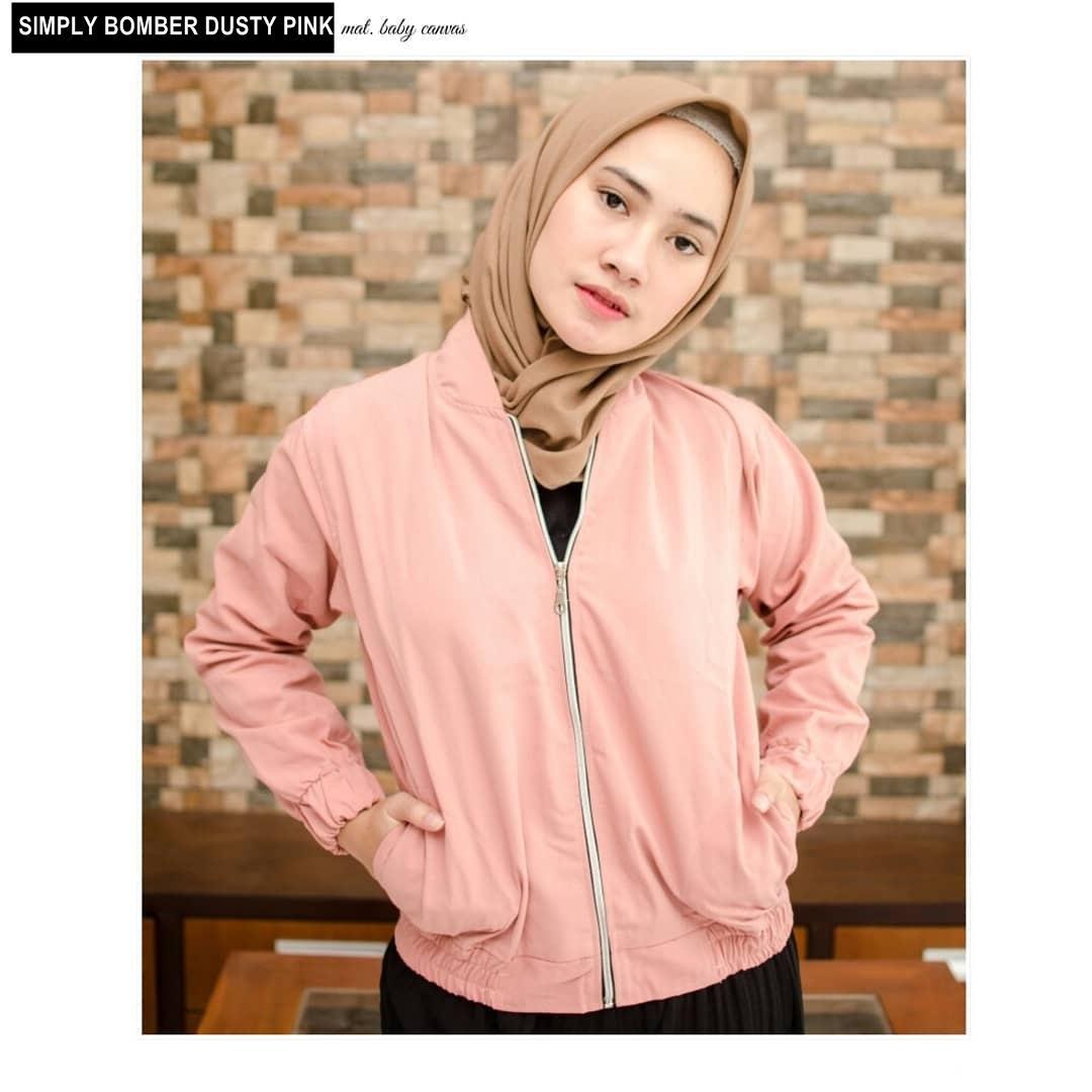 SIMPLY BOMBER ||| nouska shop ||| jaket sweater baju atasan blouse rajut hijab terbaru kekinian cewek wanita murah