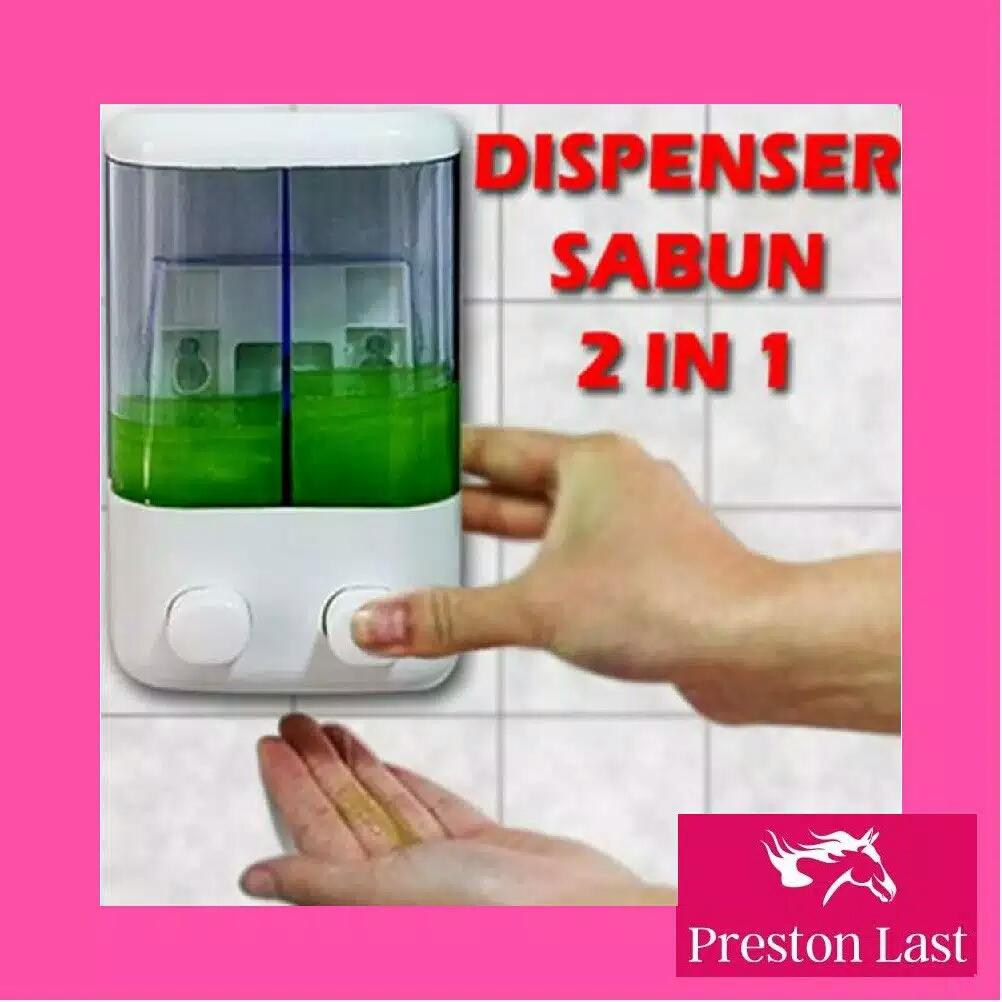Preston Last - Tempat Dispenser Sabun Cair Tempel Tabung Mandi Cuci Piring ZHAS2 - Putih