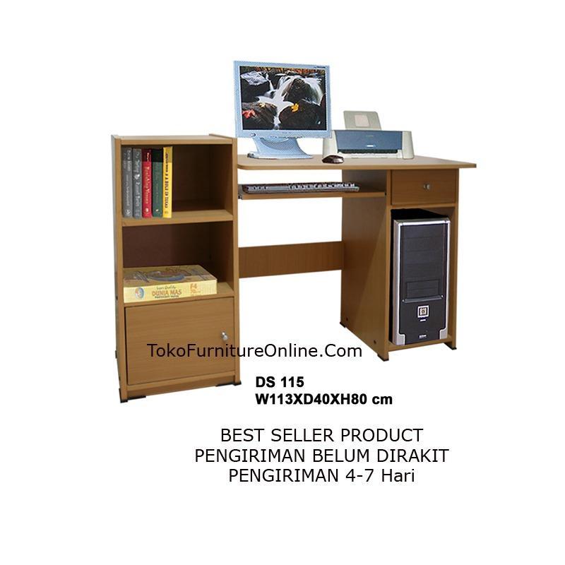 Meja Kerja Kantor Komputer Laptop Sekolah Belajar D115
