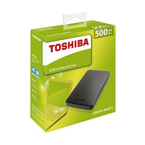 Harddisk / Hardisk External Toshiba Canvio Basic 500GB USB 3.0 HDD Variasi Tidak Ada