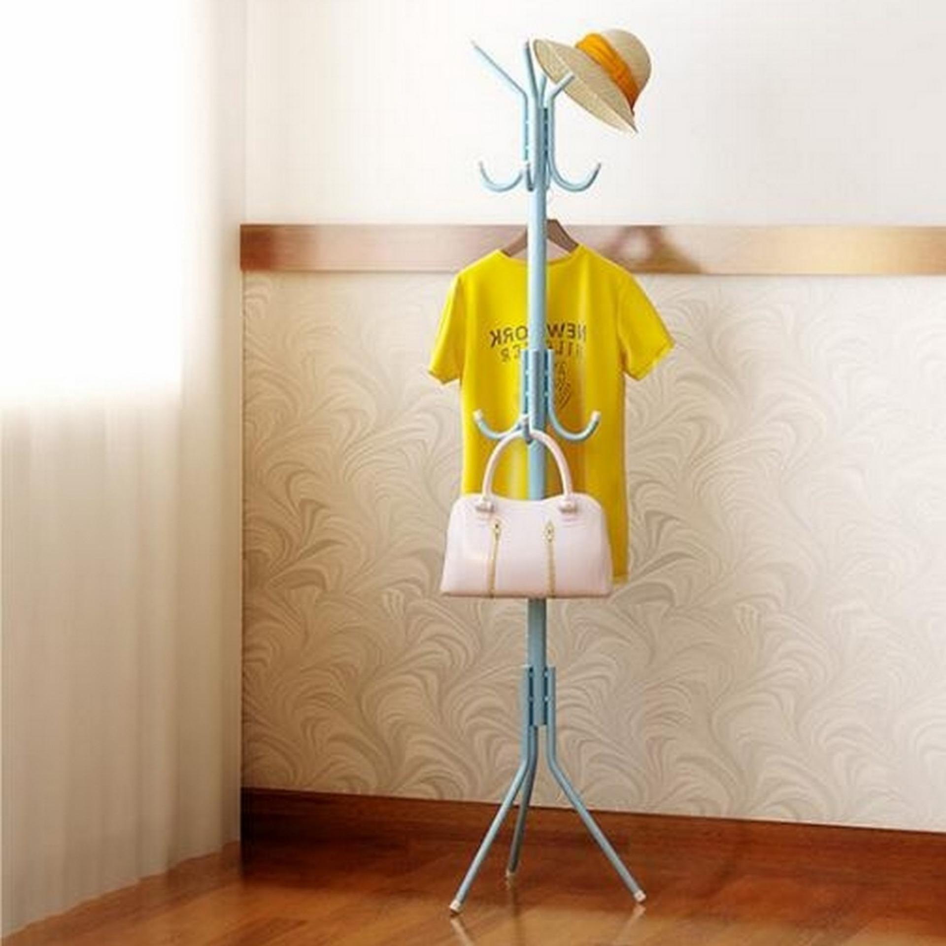 Lemari Gantung Pakaian Lemari Rak Lemari Baju Lemari Bongkar Pasang Rak Baju Terbaru Rak Baju Tanpa Cover S7 Biru