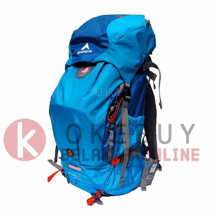 HOT PROMO!!! Tas Ransel Hiking/Carrier EIGER RHINOS 1241 60L Blue + Rain Cover - p0KhJr