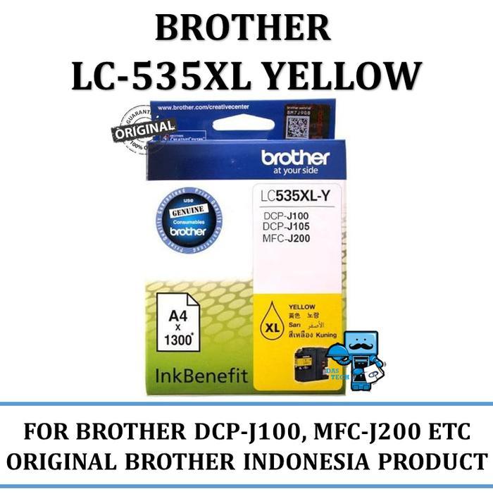 Tinta Brother LC-535XL Ink Tinta Original Brother (Yellow)