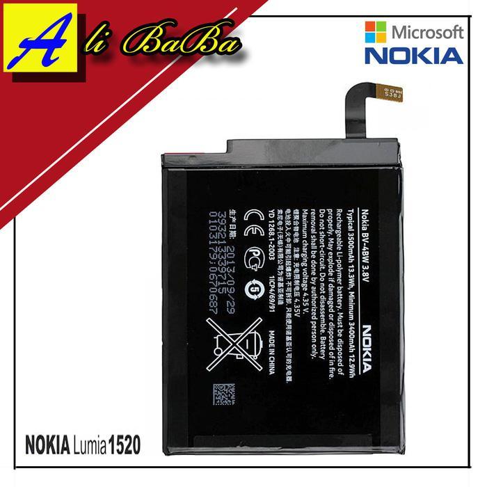 Baterai Handphone Phablet Nokia Lumia 1520 BV-4BW Batre HP Batre Nokia