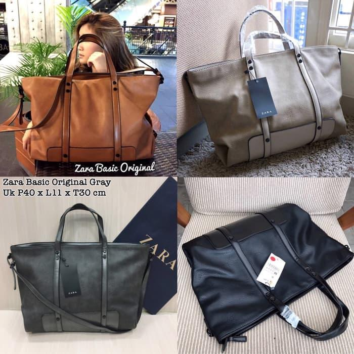 DISKON Tas Tote Handbag Murah Zara Leather Original Best Seller