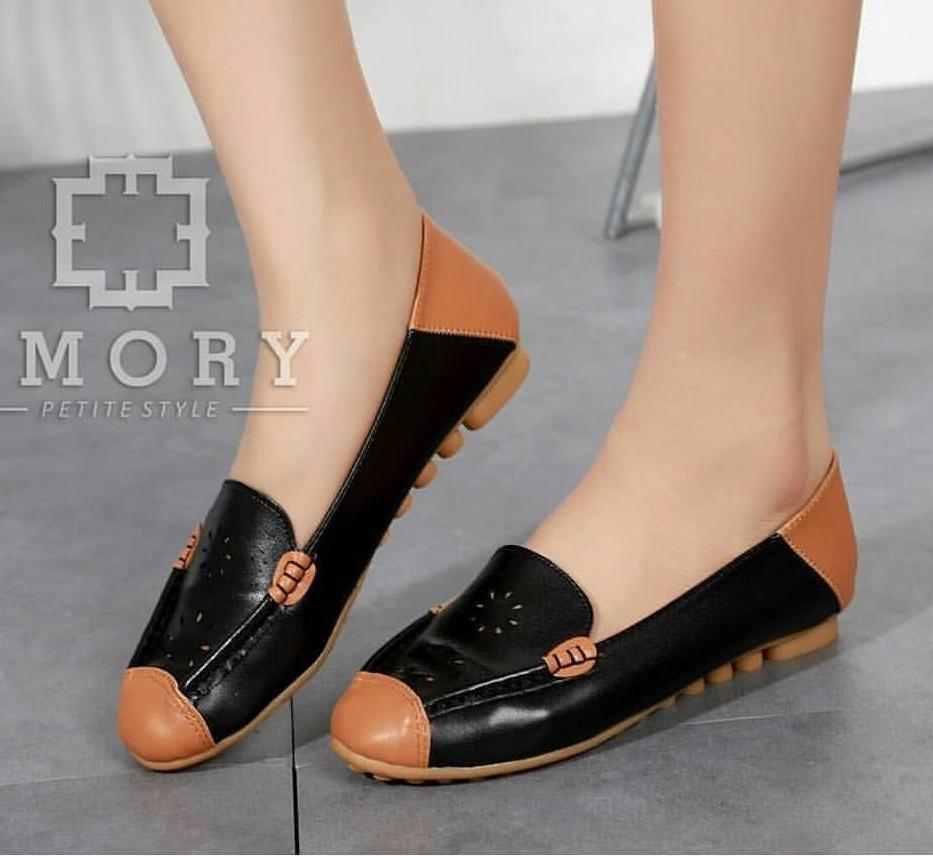 Dalleya Sepatu Flat Shoes Casual Wanita Slip On Rample Pita Kores ... 26ee6414c8