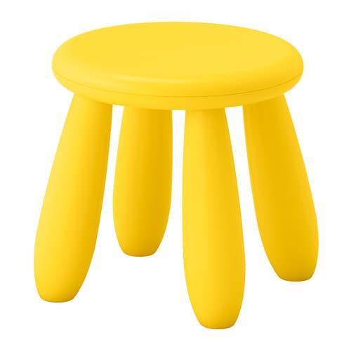 IKEA MAMMUT, kursi bulat plastik aneka warna, kursi /stool anak