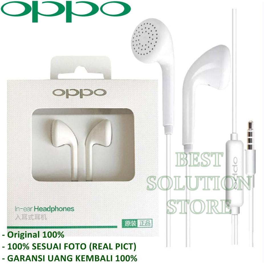 Headset OPPO F5 / R9 / F1 / F1s MH133 Handsfree Earphone Headset OPPO 3.5mm Jack In-Ear Music Earphone - Putih