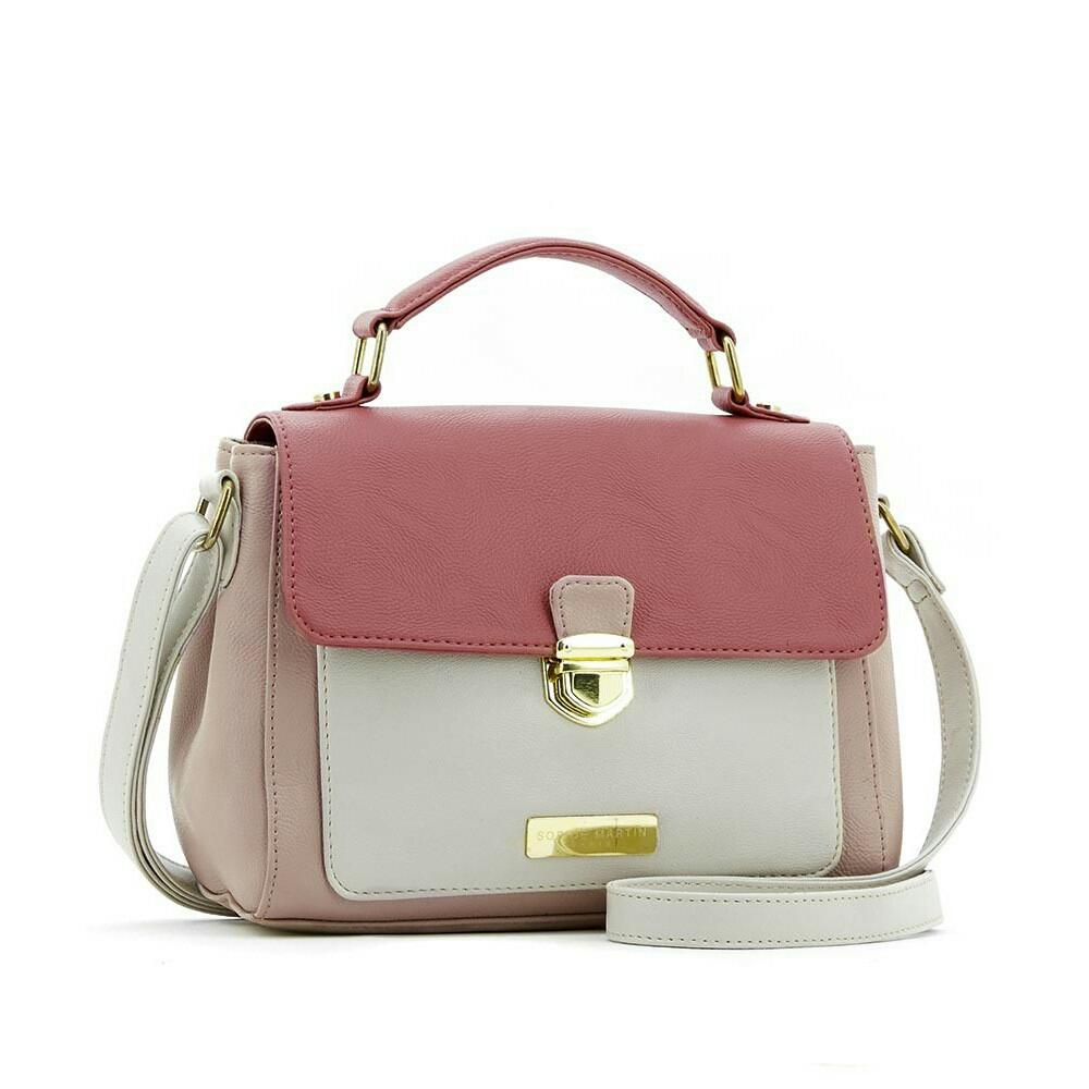 Tas Selempang / Sling bag Sophie Martin Paris LV Geliate T4114P3 Cream Pink